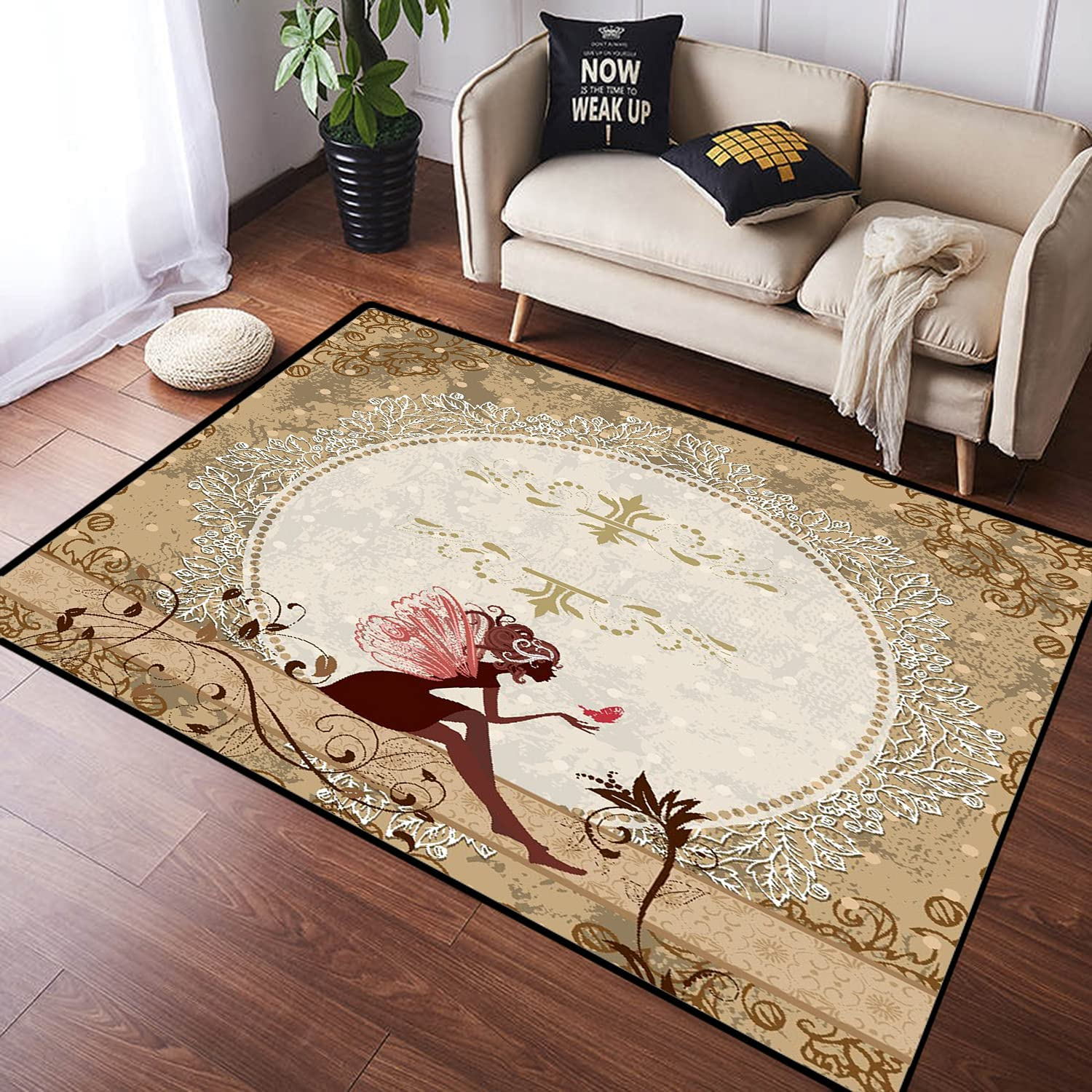 ZOMOY Long Floor Mat Carpet 2021new sold out shipping free Pixie Elf Fairytale Fantasy Sitting