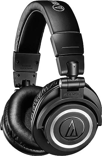 سماعات لاسلكية بتقنية البلوتوث من اوديو تيكنيكا ATH-M50xBT - اسود، مع وضوح استثنائي وراحة وبطارية تدوم 40 ساعة