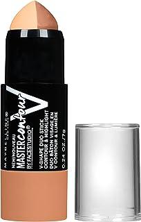 Maybelline New York Makeup Facestudio Master Contour V-Shape Duo Stick, Medium Shade Contour Stick, 0.24 oz