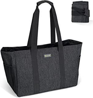 BALEINE Soft Large Utility Tote Bag, Foldable Tote for Storage Laundry Pool