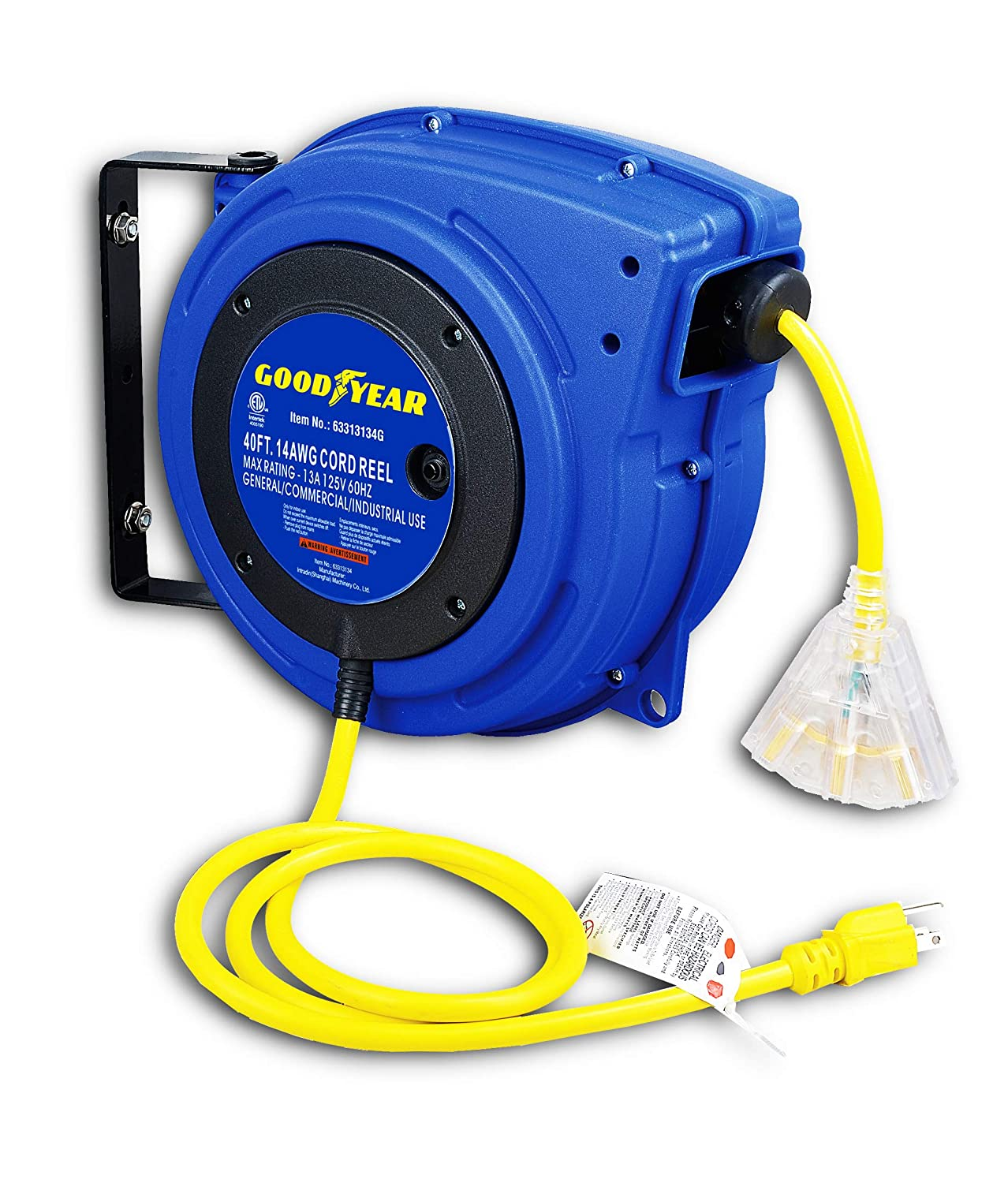 GOODYEAR Rapid rise Extension Cord Reel Extra Max 74% OFF Long 3C 14AWG ft Tr 40 SJTOW