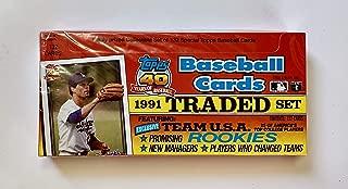 Topps 1991 Traded Baseball Set 132 Cards - Sealed