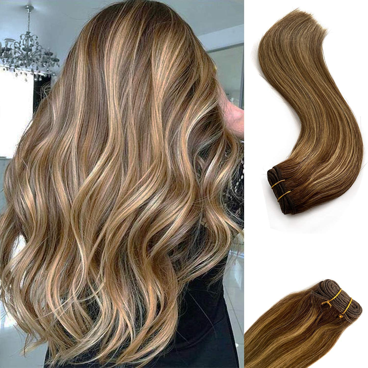 Weft Hair Extensions Sew in Human Women Inc Max 64% OFF for 22 Bundles Super beauty product restock quality top