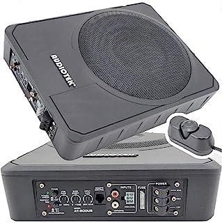 Audiotek 10 pulgadas 400 vatios pico de potencia / 200 vatios RMS delgado bajo el asiento de alimentación activa de audio ...
