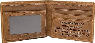 Engraved Custom RFID Blocking Bifold Stylish Wallet for Men Handmade Valentine's Day Christmas Gifts
