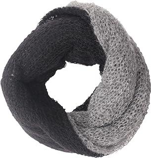 CG - Talento Fiorentino, scaldacollo tubolare lavorato a maglia, invernale, sciarpa ad anello intrecciato a due colori Gri...