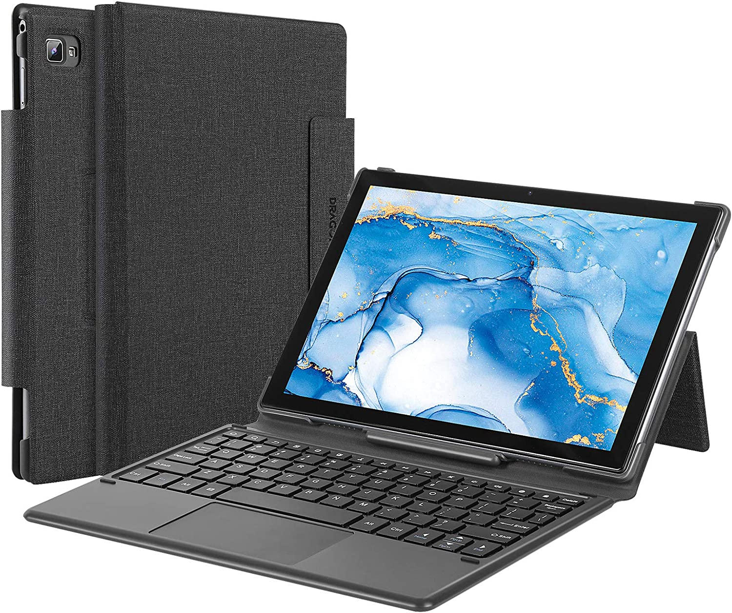 Dragon Touch Docking Keyboard Case for Notepad 102 and Notepad T10M 10-Inch Tablet, 80 Keys, 5 Pin Connection Keyboard Tablet Case, Foldable, not Include Tablet