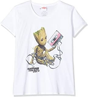 Hasbro Guardiani del Tasto T-Shirt Galaxy Mens Bambino Groot a Vol 2 Marvel Cotone Nero