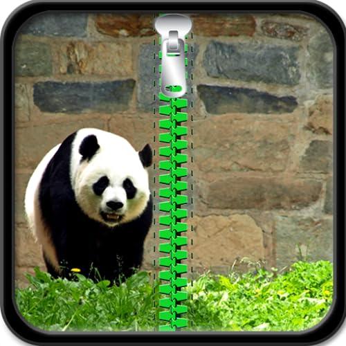 Pantalla de bloqueo de la cremallera de la panda
