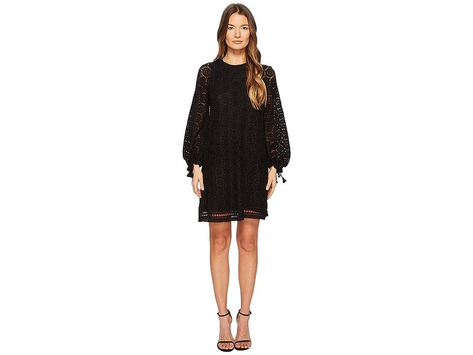 See by Chloe Crochet Lace Dress (Black) Women