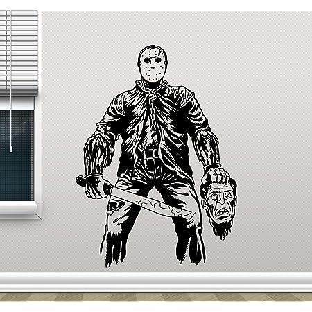 Freddy Krueger Wall Art Decal Removable Vinyl Sticker A Nightmare on Elm Street Decorations for Home Dorm Bedroom Horror Movie Decor krg3