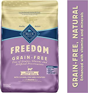 Blue Buffalo Freedom Grain Free Natural Indoor Adult Dry Cat Food, Chicken