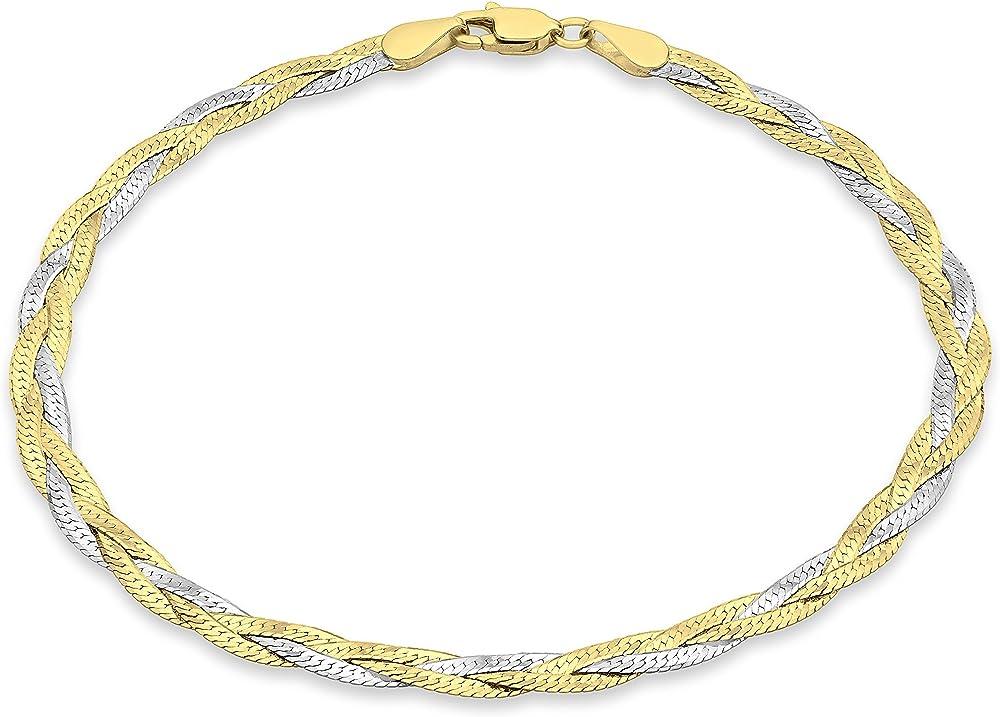 Carissima gold ,bracciale per donna in oro bicolore 9k (375)(2,1)