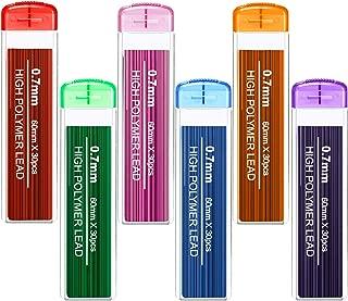 180 Pieces Color Lead Refill Colored Pencils Lead, 0.7 mm HB, 6 Color Set