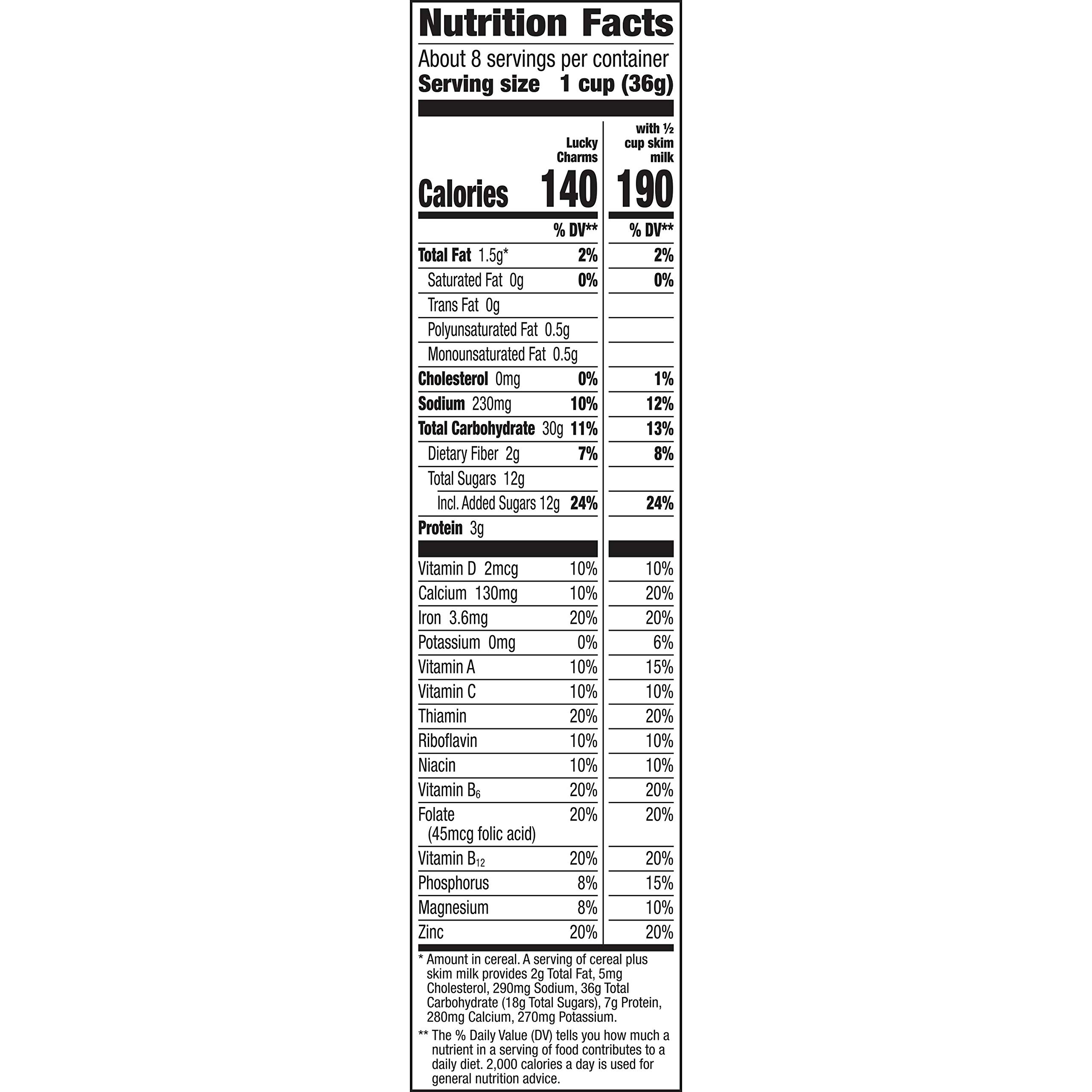 Lucky Charms, Gluten Free Breakfast Cereal, 10.5 oz