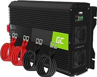Green Cell PRO 300W//600W 24V auf 230V Sine Wave Volt kfz Spannungswandler Wechselrichter Power Solar Inverter DC AC Umwandler Stromwandler Wohnwagen Auto Modifizierte Sinus