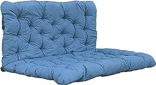 Ambientehome Coussin pour Palette avec Dossier de siège/120 x 80 cm, Dossier 120 x 60 cm, Bleu/Gris