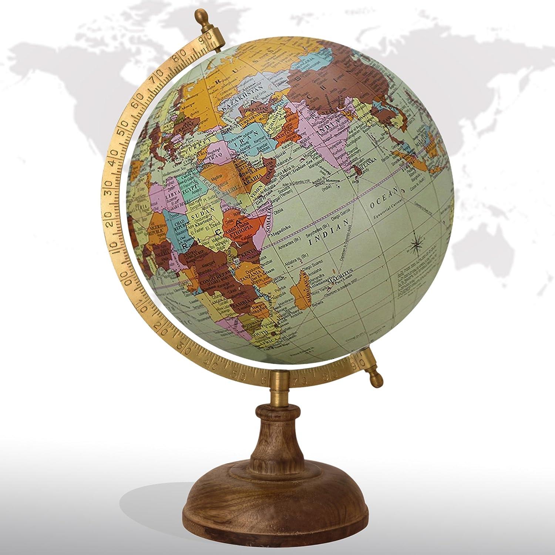 Decorative Rotating World Map Globe Multi Inches Superlatite B 8