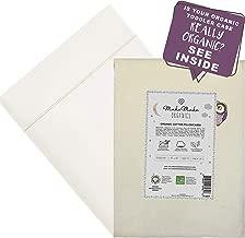 MakeMake Organics Organic Cotton Pillowcase Kids (Set of 2) GOTS Certified Organic Pillowcase Youth Junior Chemical Free Anti Allergy Ultra Soft Safe Fits 14x20 Youth Junior Kids (Pearl White, 16x22)