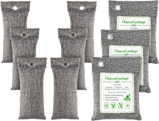 FOYO Bamboo Charcoal Bags Activated Charcoal Odor Absorber Moisture Absorber Car Odor Eliminators for Home Charcoal Bags O...