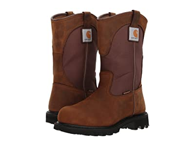 Carhartt 10 Waterproof Wellington Steel Toe (Dark Bison Oil Tanned/Carstrong Durable Fabric) Women