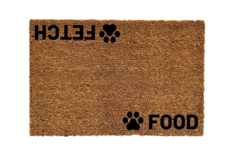 Purchase Cute Dog Door Mats Food mats Mo OFFicial site Doggy Fetch mat