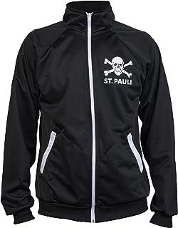 JL Sport St. Pauli Black Ultras Skull Kult Crossbones Punk Activist Jacket Football Tracksuit Top