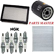 8USAUTO Tune Up Kit Air Cabin Oil Filters Spark Plug Fit FORD TAURUS V6 3.5L 2017