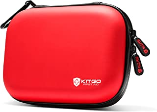 Kitgo Mini First Aid Kit 101 Pieces, Water-Resistant Compact Hard Shell Case Perfect for Travel, Biking, Hiking, Camping, Car