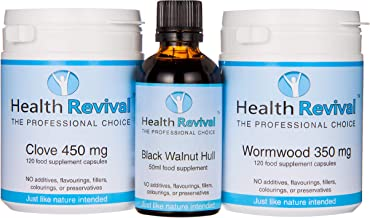 Cleansing Kit Full Program – Clove Wormwood Black Walnut – by Health Revival Estimated Price : £ 38,95