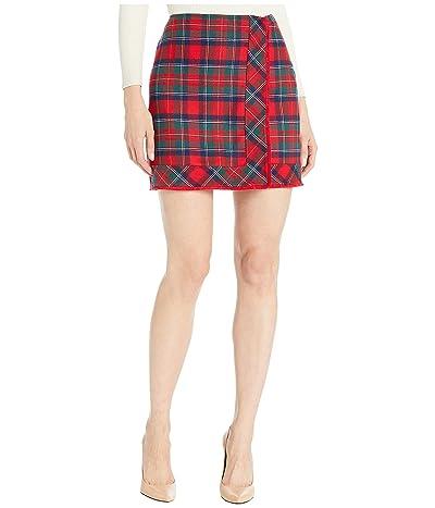 Vineyard Vines Merry Plaid Skirt (Red Velvet) Women