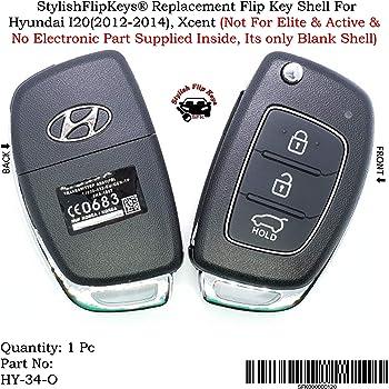 SFK Replacement Flip Key Shell for Hyundai I20, Verna, Xcent