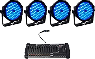(4) American DJ Mega Go Par64 Plus Rechargeable Stage/Wash Lights+DMX Controller