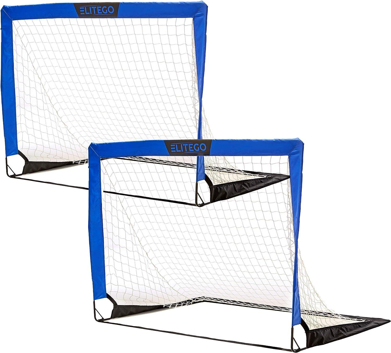 EliteGo Portable Soccer Goal Instant 評判 P 国内在庫 Fiberglass Net Pop Up