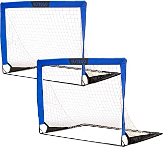 EliteGo Portable Soccer Goal | Instant Pop Up Net |...