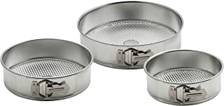 "Mrs. Anderson's Baking BUN00662 Waffle-Bottom Springform Pans, 3-Piece Set, Includes 8"", 9"", 10"", Tinned Steel"