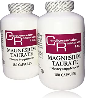 Cardiovascular Research EFM-MGT180X2 180 Capsules, Magnesium Taurate (Pack of 2)