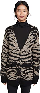 Pam & Gela Women's Mohair Tiger Cardigan