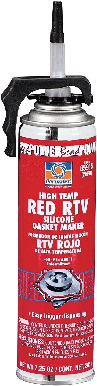 Permatex 85915 High-Temp Red RTV Silicone Choice Gasket 7.25 oz. Popular standard Power