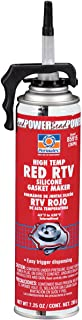 Permatex 85915-6PK High-Temp Red RTV Silicone Gasket, 7.25 oz. PowerBead Can (Pack of 6)