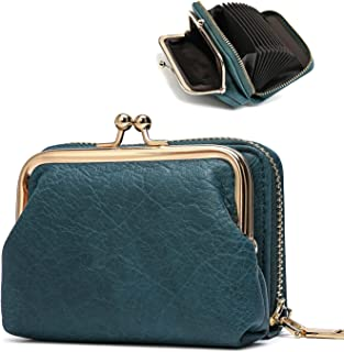 Women Cion Purse Card Holder Wallet ,cute Leather Change Purse With Cedit Card Blocking case For Ladies Mini Belongings,Sm...