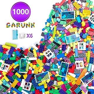 GARUNK Building Bricks 1000 Pieces Set, 1000 Pieces Classic Building Blocks in 11 Colors with Windows and Doors Compatible...