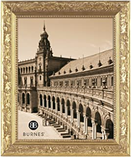 Burnes of Boston 266445 Windsor Leaves Picture Frame, 4-Inch by 5-Inch, Gold