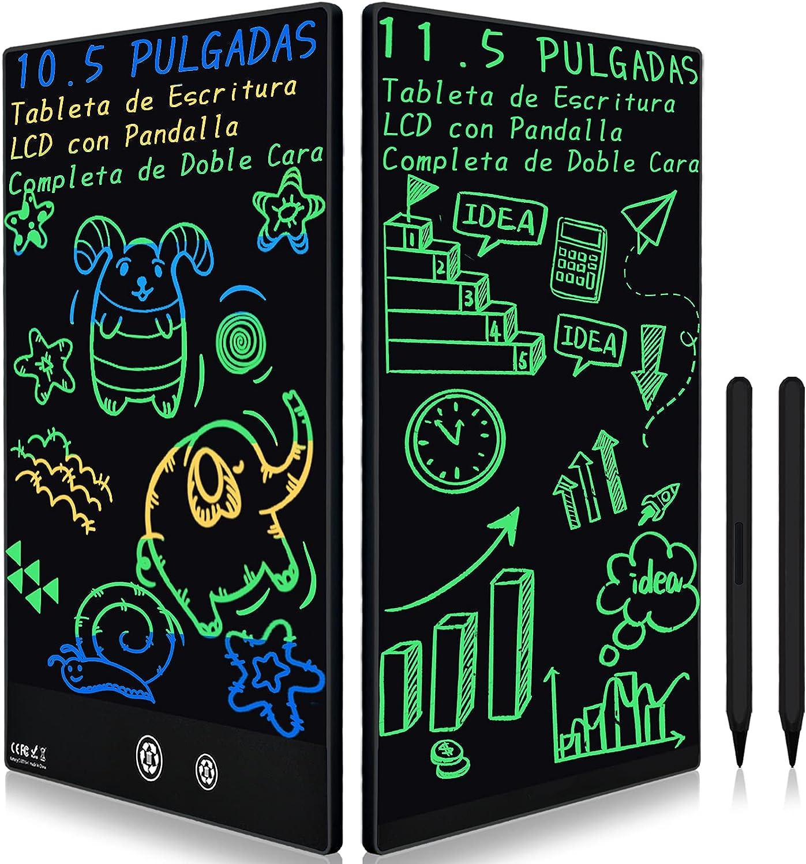 Tableta de Escritura LCD con Doble Pantalla Completa, 11.5 Pulgadas, Pizarra Electrónica, Tablero Táctico de Fútbol, Jueguete y Regalo Infantíl para Niño, Memo y Borrador en Casa y Oficina (Negro)