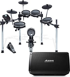 Alesis Surge Mesh Kit | Eight-Piece Electronic Drum Kit with Mesh Heads | 40 Kits, 385 sounds, 60 Play-Along Tracks | USB/...