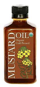Daana Organic Mustard Oil: COLD PRESSED (12 oz)