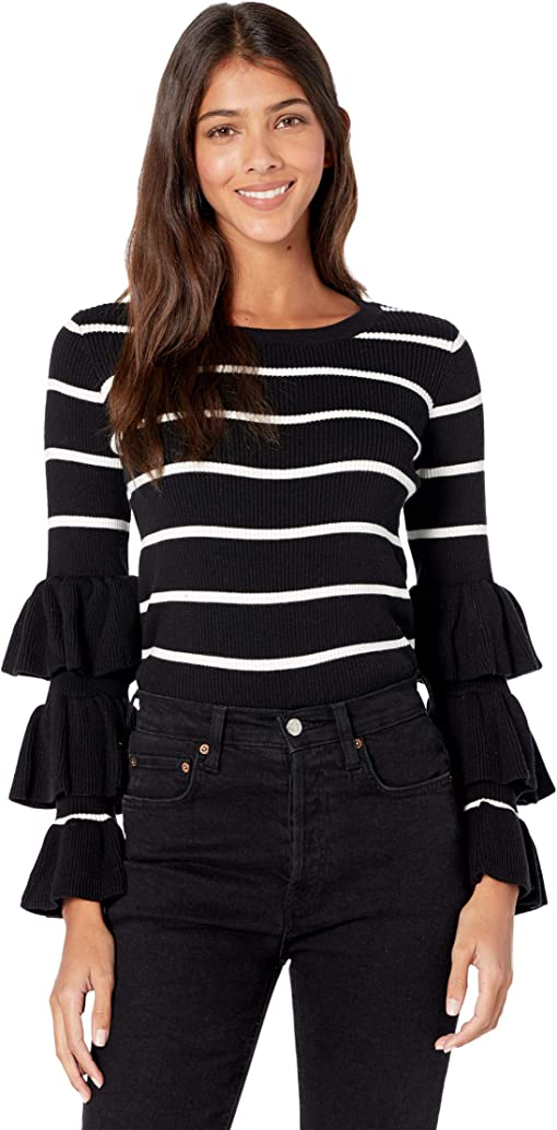 Black/Cream Stripe