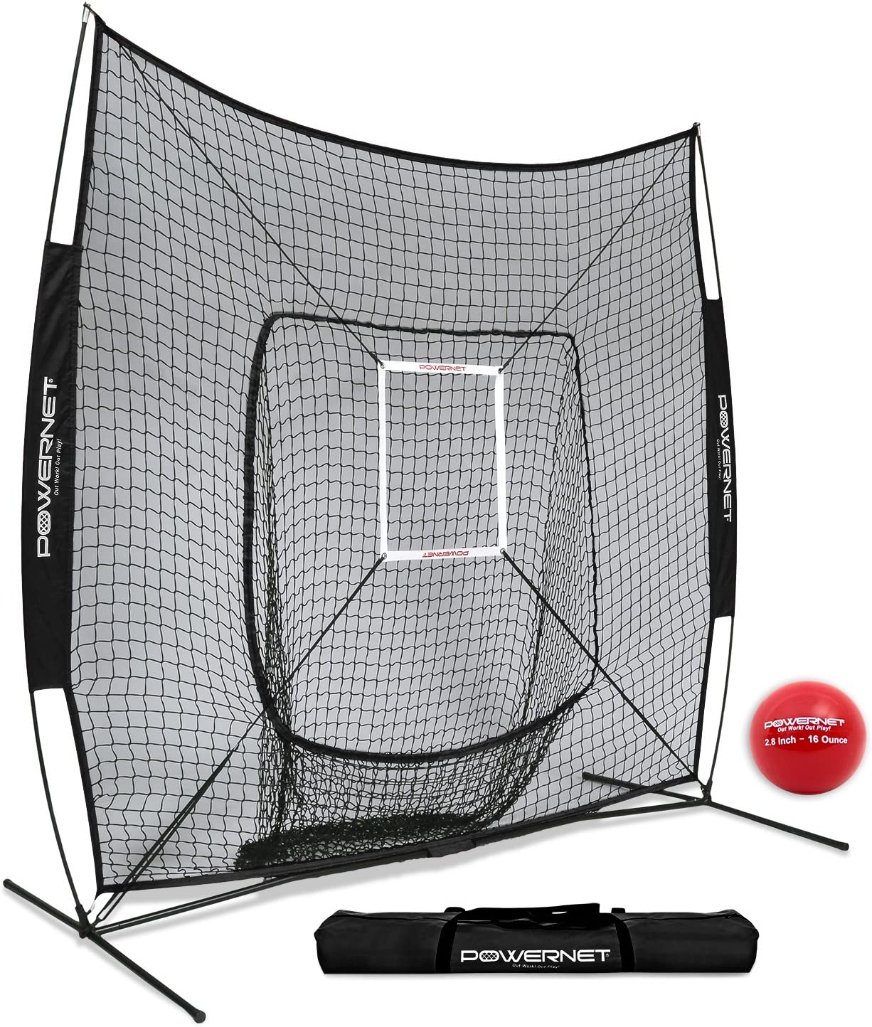 PowerNet DLX 7x7 Baseball Softball Net Heavy Hitting Weighted + Super sale period limited 40% OFF Cheap Sale