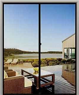 MAGZO Screen Door Magnets 70 x 79, Durable Fiberglass Door Mesh with Full Frame Hook&Loop for Entry Door Fits Door Size up to 70