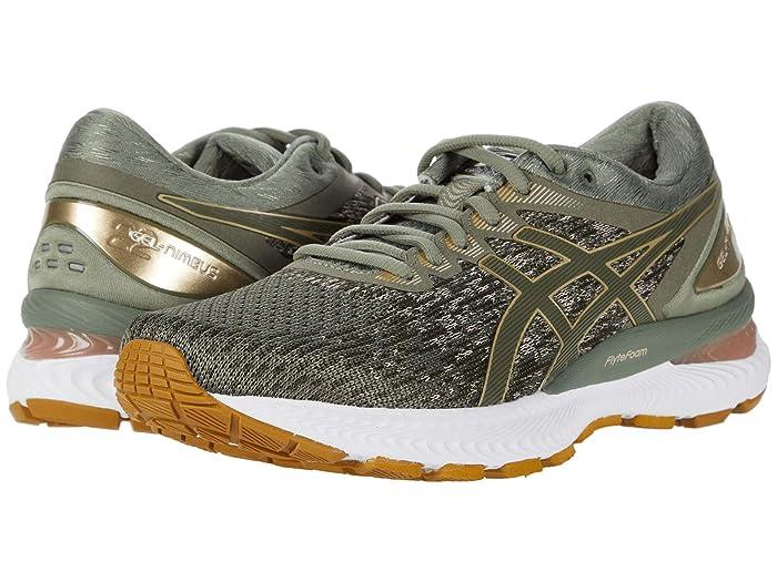 ASICS  GEL-Nimbus 22 (Lichen Green/Mantle Green) Womens Running Shoes